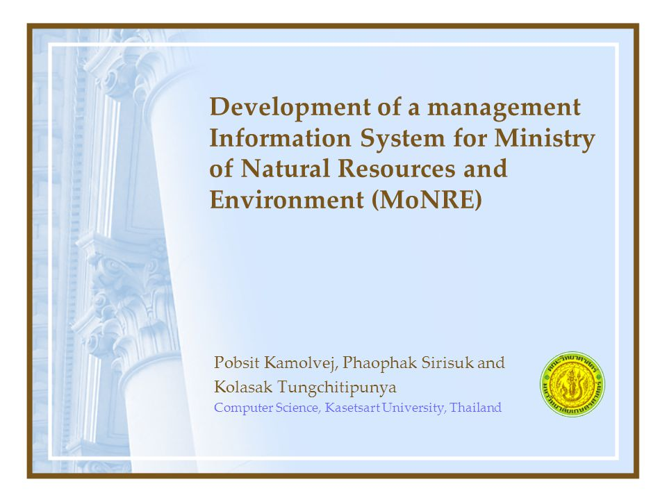 Outline Introduction Conceptual Framework Methodologies Experimental Results System Integration System Deployment Conclusion