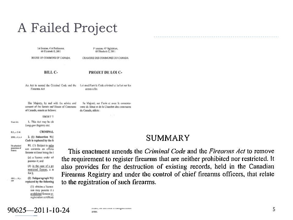 A Failed Project 5