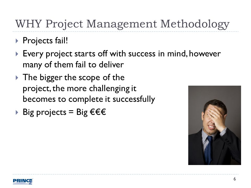 WHY Project Management Methodology Projects fail.
