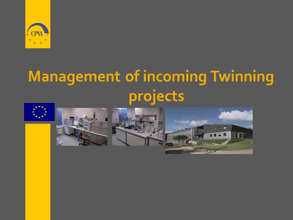 Management of incoming Twinning projects