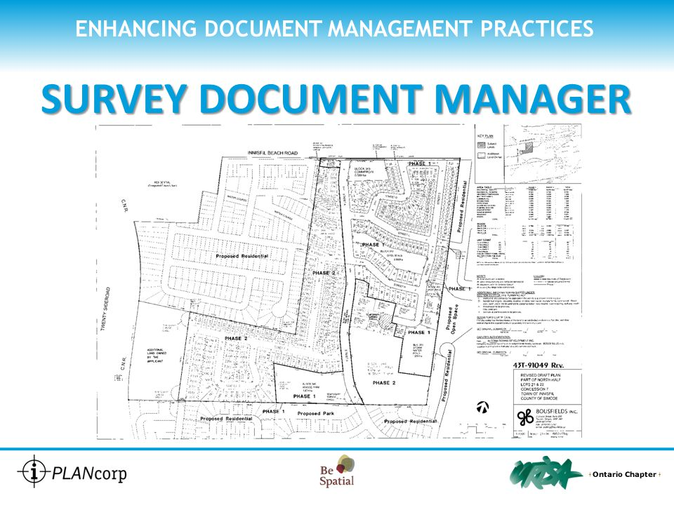 ENHANCING DOCUMENT MANAGEMENT PRACTICES SURVEY DOCUMENT MANAGER How does Survey Document Manager work SCAN your drawings as you do now
