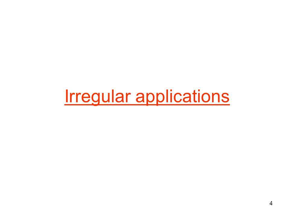 4 Irregular applications
