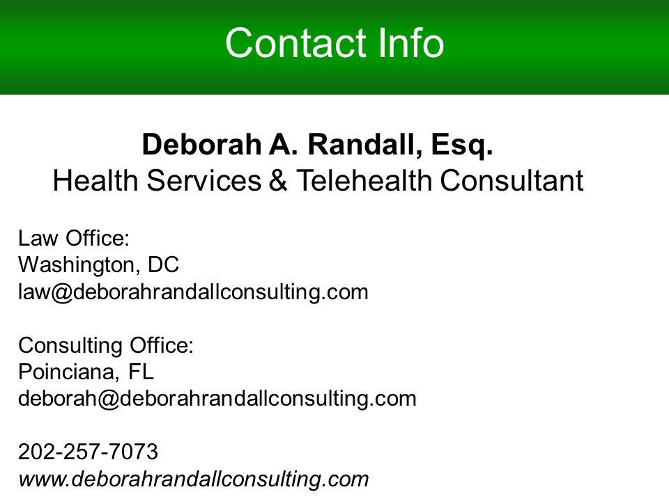 Contact Info Deborah A. Randall, Esq.
