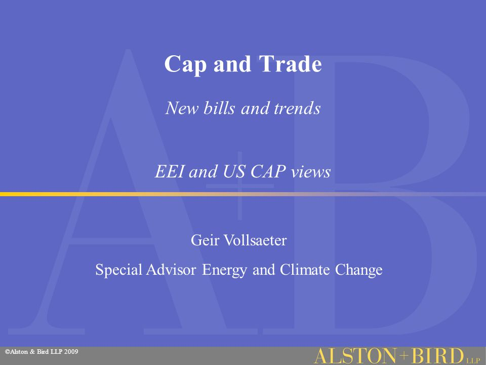 ©Alston & Bird LLP 2004 On the hill Cap and Dividend-Redistribute Sen.