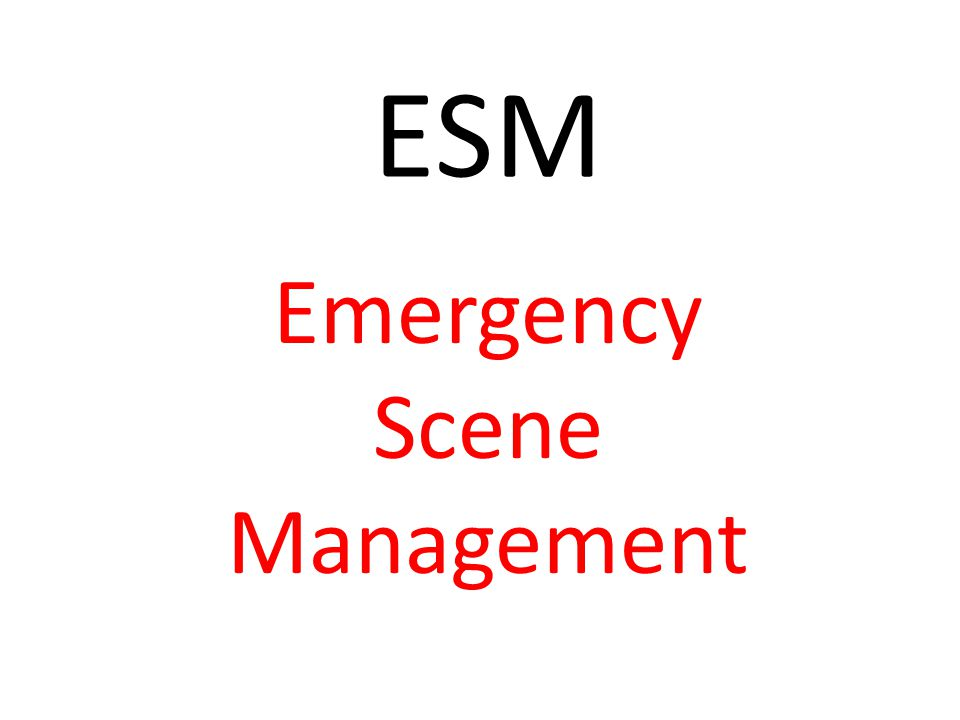 ESM Emergency Scene Management