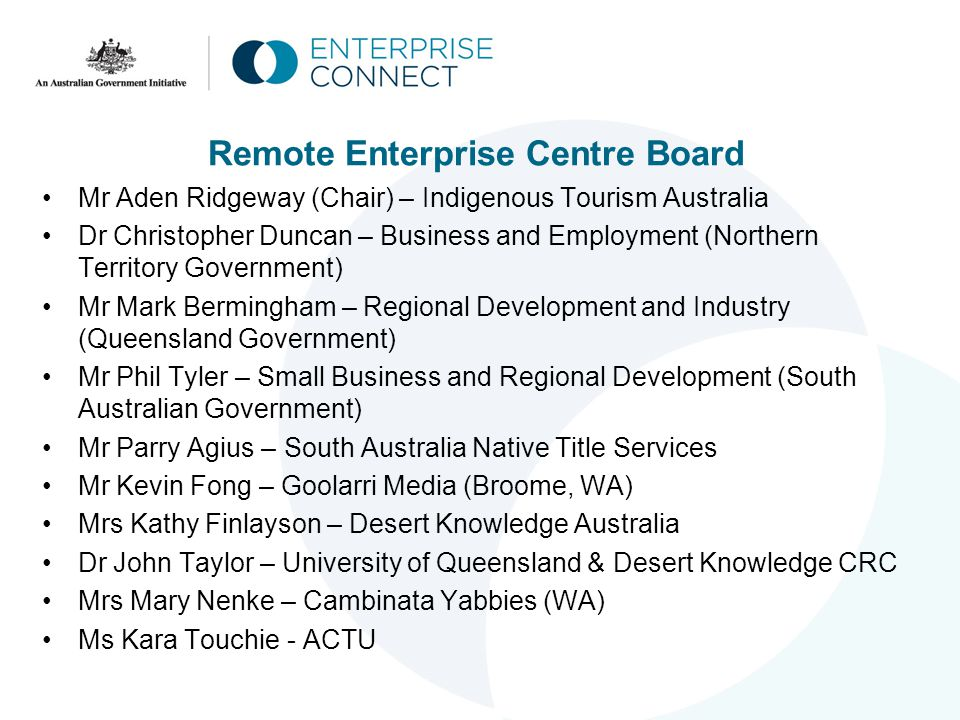 Eligibility Criteria Innovation Centres turnover min $750k (remote) to a max of $100m 3 years trading ACN (or ICN for remote) Manufacturing Centres turnover min $1.5m (regional) to a max of $100m $2m (capital city) to a max.