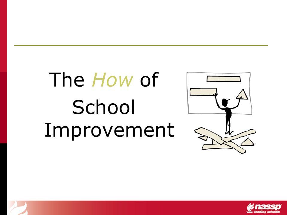 The How of School Improvement