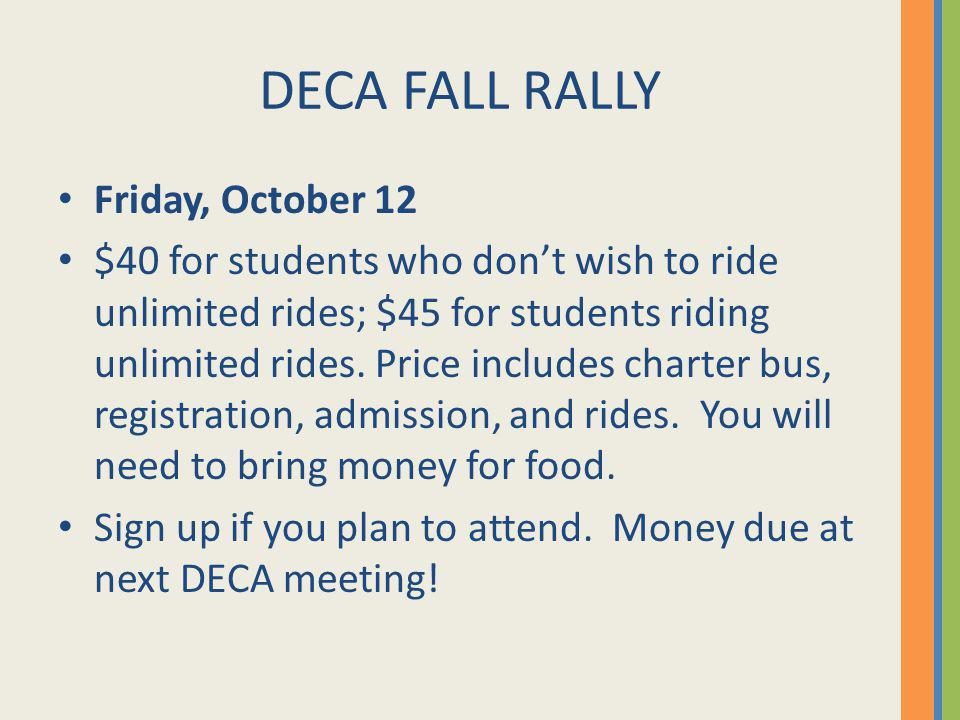 DECA Fall Rally What Were Doing There….