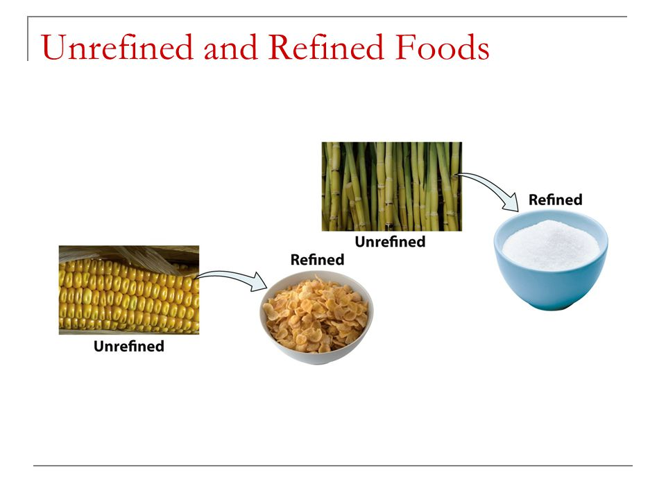 Unrefined and Refined Foods