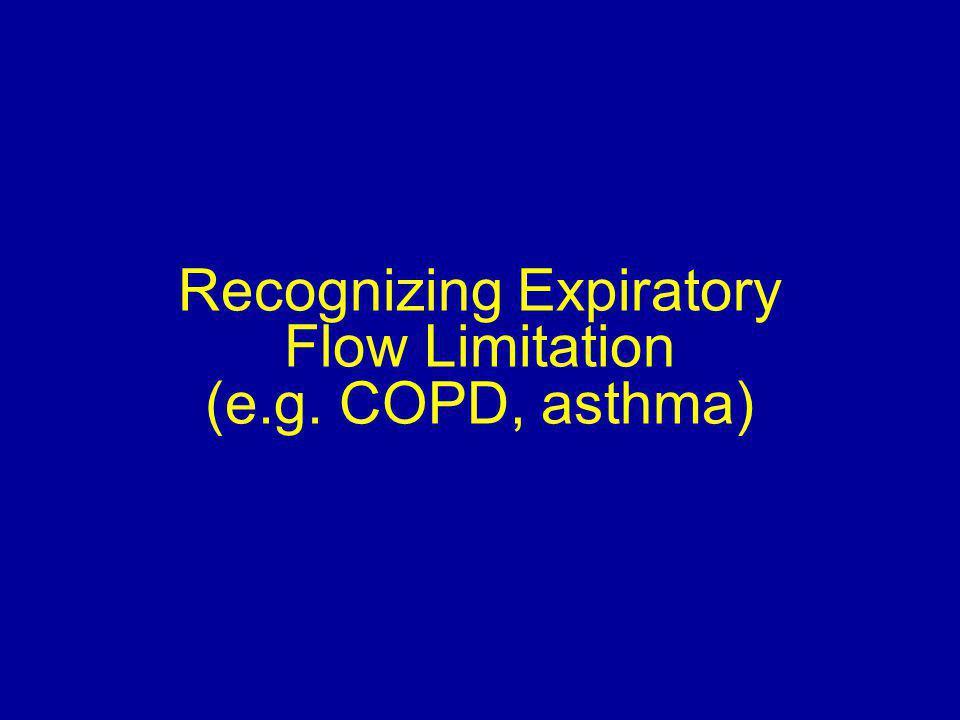 Recognizing Expiratory Flow Limitation (e.g. COPD, asthma)