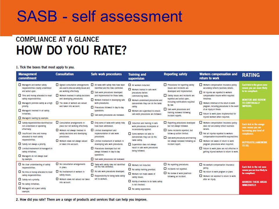 SASB - self assessment