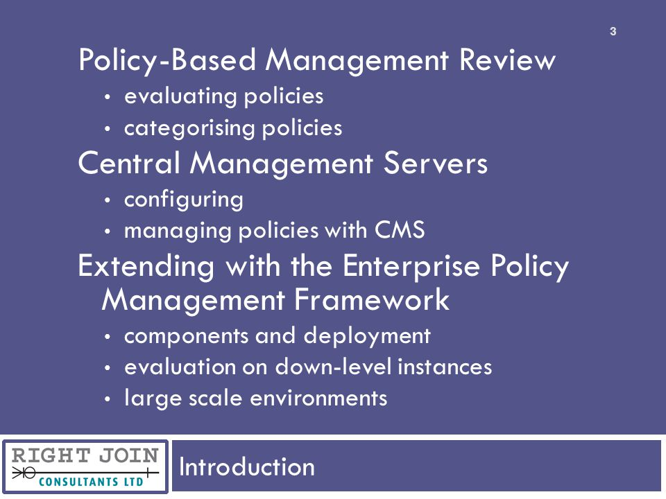 Extend to the Enterprise EPM Framework In Action policy results