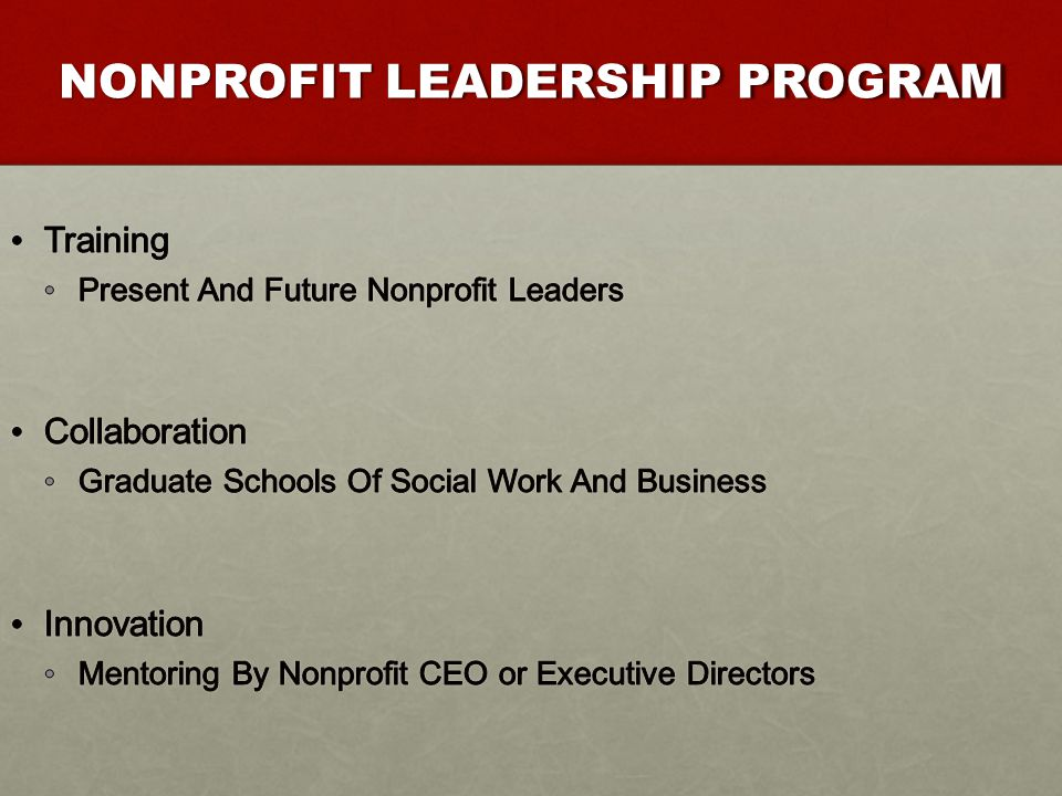 IMPLICATIONS FOR NONPROFIT SECTOR