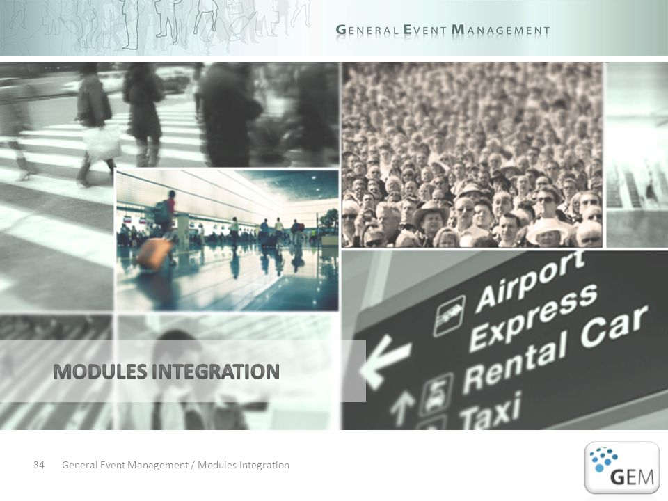 General Event Management / Modules Integration34