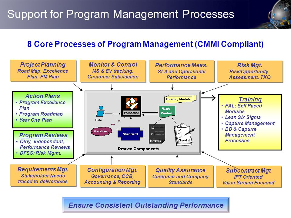 Support for Program Management Processes Project Planning Road Map, Excellence Plan, PM Plan Project Planning Road Map, Excellence Plan, PM Plan Perfo