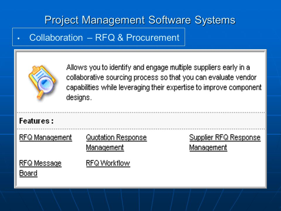 Project Management Software Systems Collaboration – RFQ & Procurement