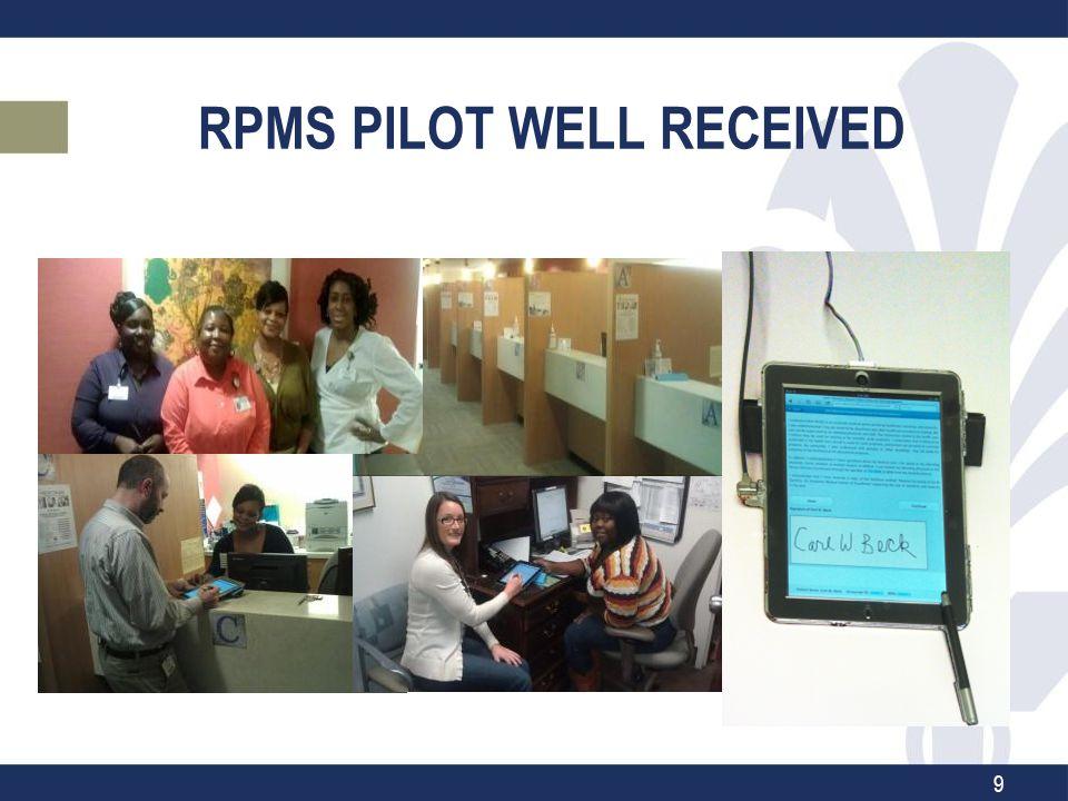 RPMS PILOT WELL RECEIVED 9