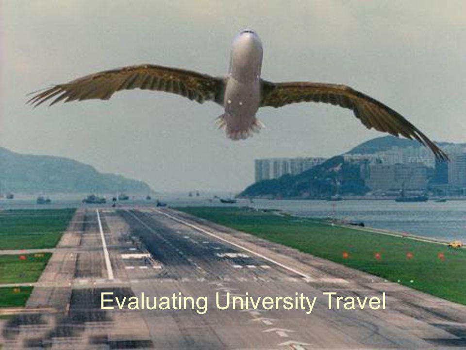Evaluating University Travel