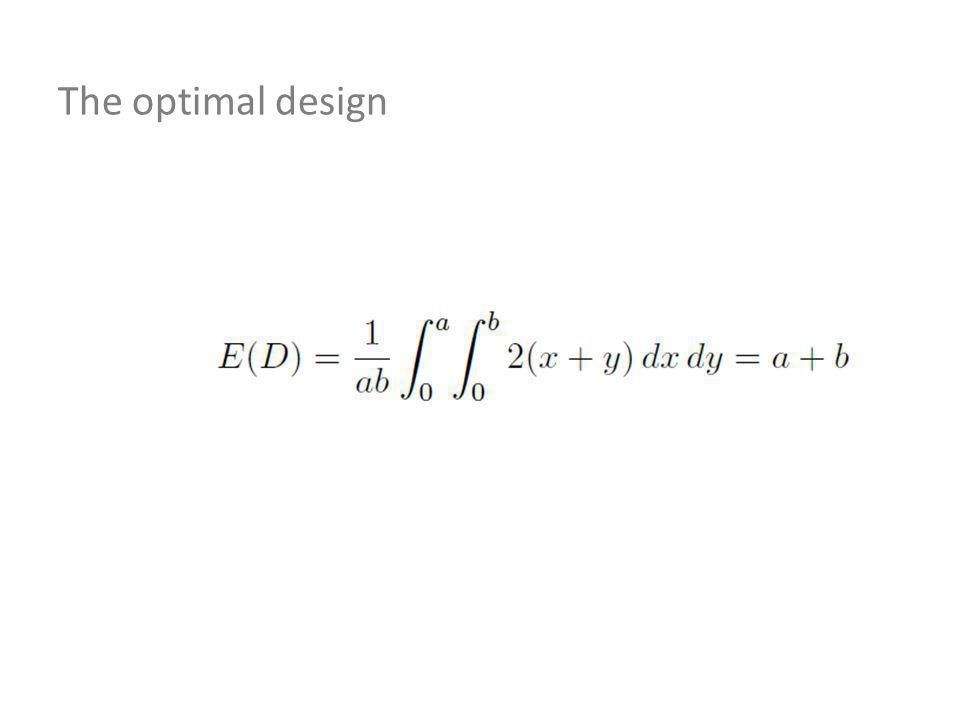 The optimal design
