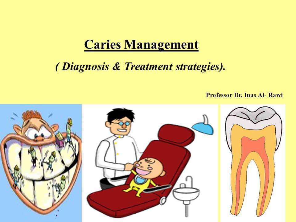 Caries Management ( Diagnosis & Treatment strategies). Professor Dr. Inas Al- Rawi