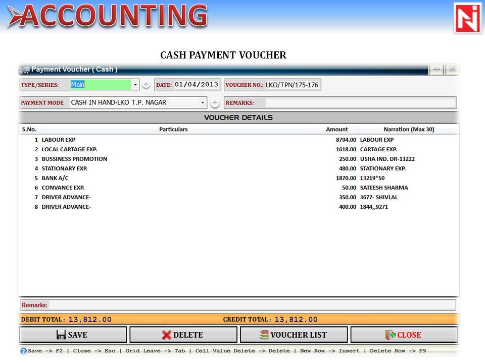 CASH PAYMENT VOUCHER