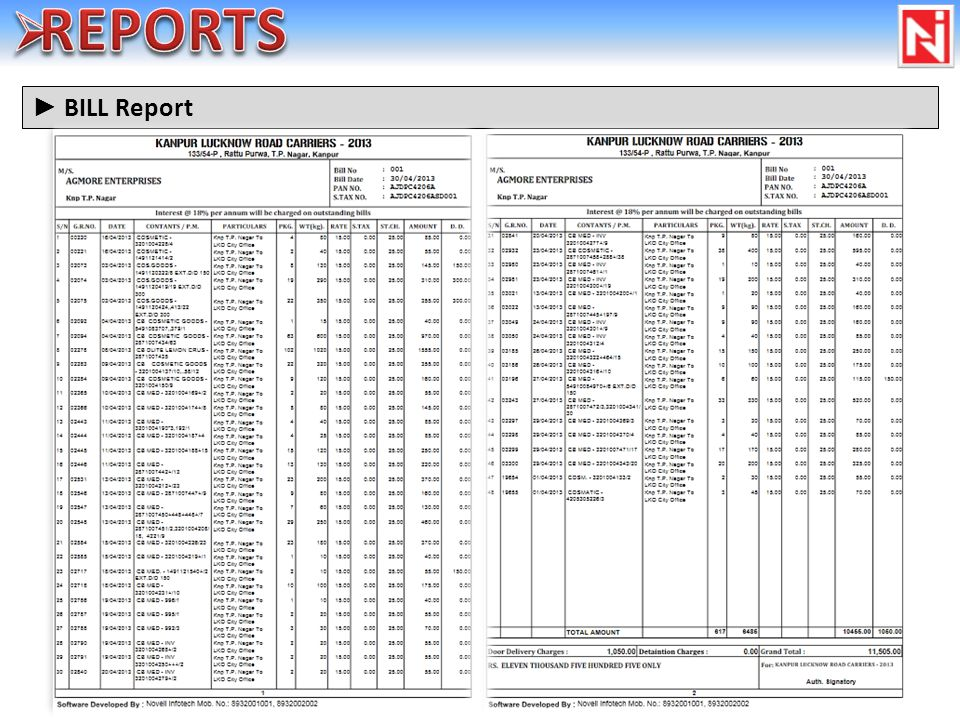 BILL Report