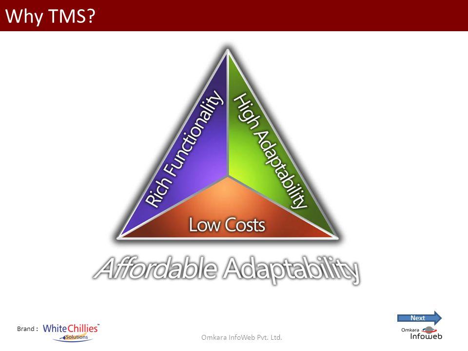 Brand : Why TMS Omkara InfoWeb Pvt. Ltd. Next
