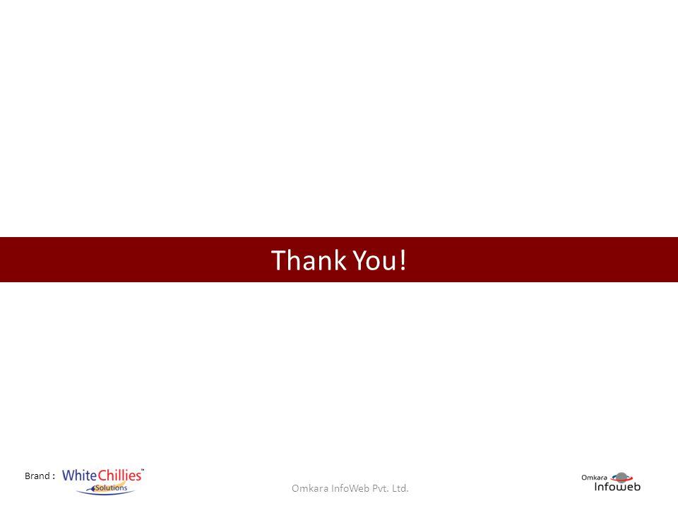 Brand : Thank You! Omkara InfoWeb Pvt. Ltd.
