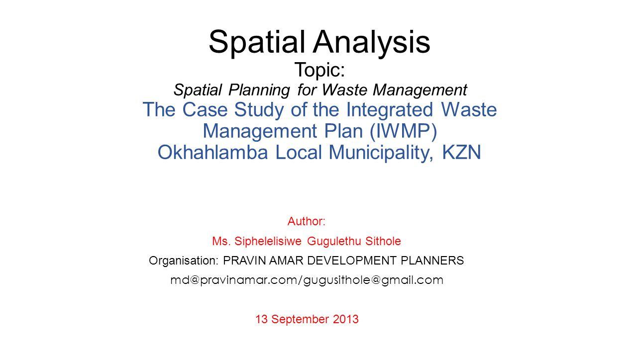 Author: SG SITHOLE12 Scenario 1: Ward-Based Waste Information System