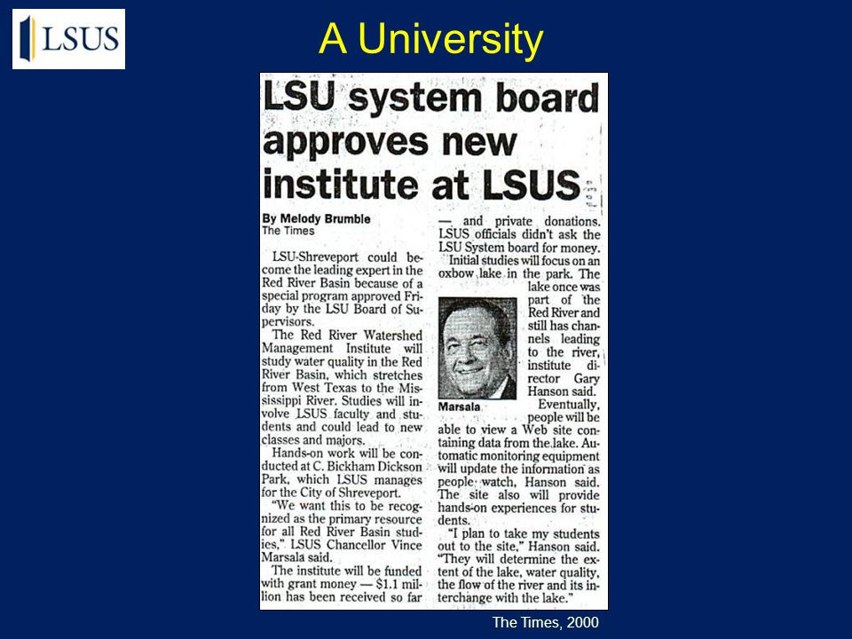 The Times, 2000 A University