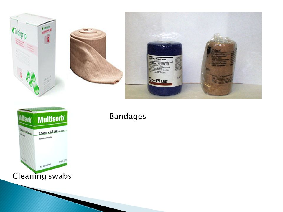 Bandages Cleaning swabs