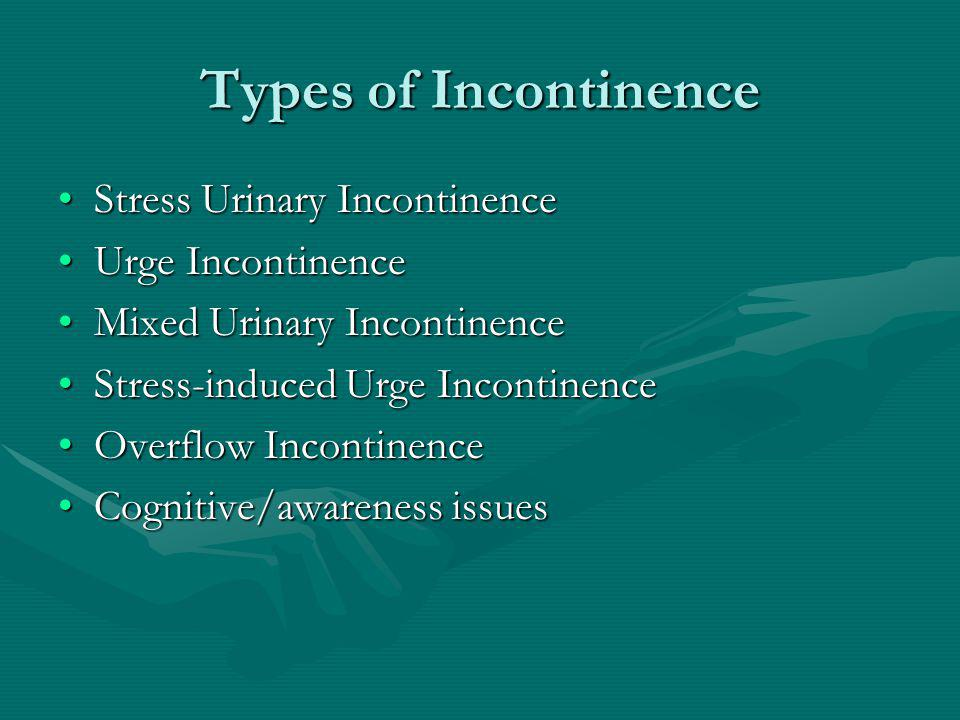 Evaluation of Incontinence Focused historyFocused history Focused physical examinationFocused physical examination Objective demonstration of SUIObjective demonstration of SUI Post-void residualPost-void residual
