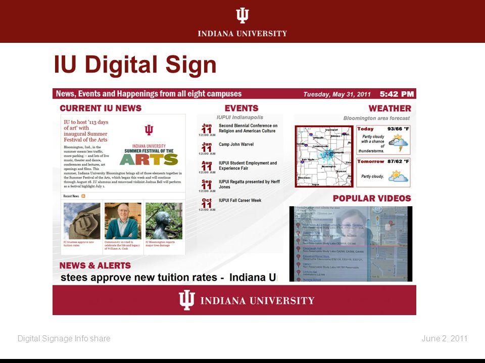 IU Digital Sign June 2, 2011Digital Signage Info share