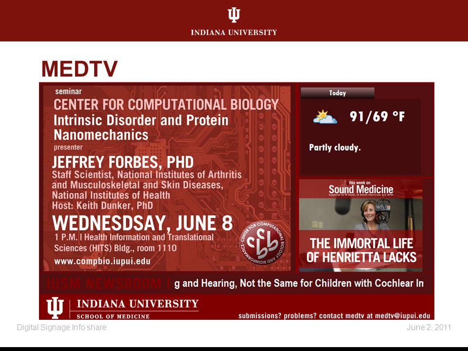 MEDTV June 2, 2011Digital Signage Info share