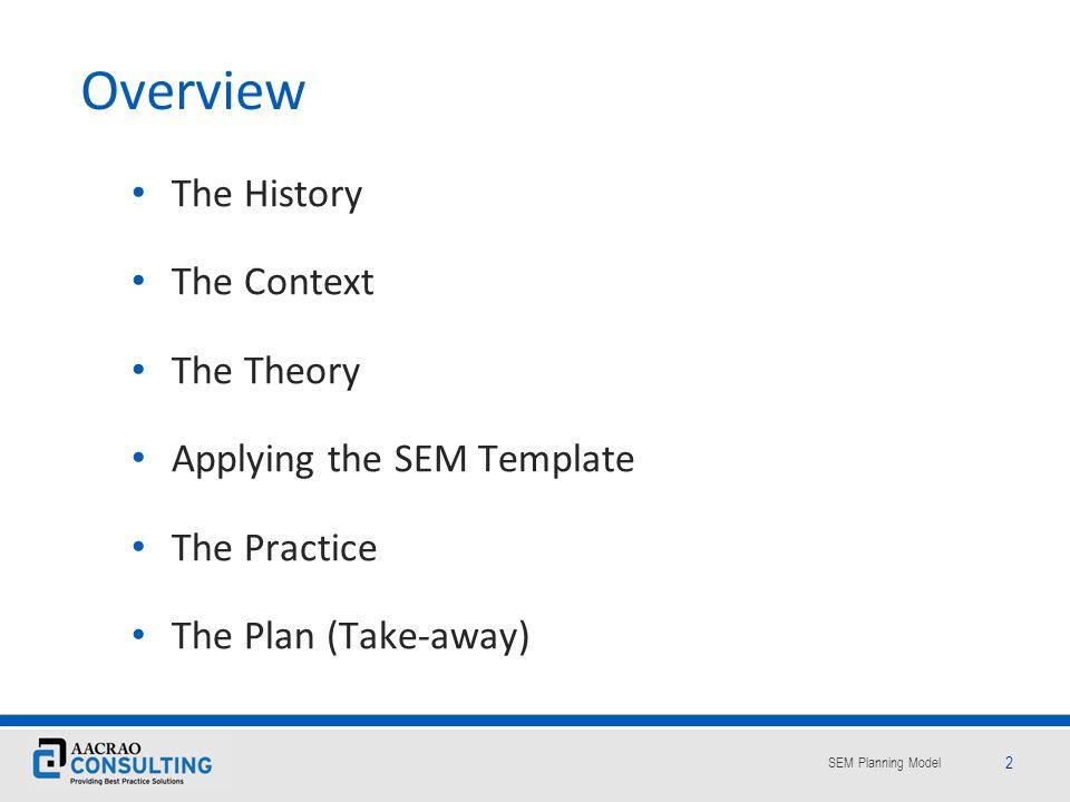 SEM Planning Model 13 Enrollment management is an institutional balancing act.