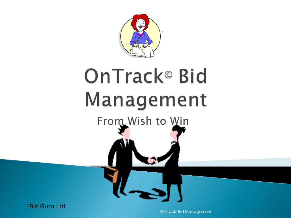 Biz Guru Ltd From Wish to Win OnTrack Bid Management