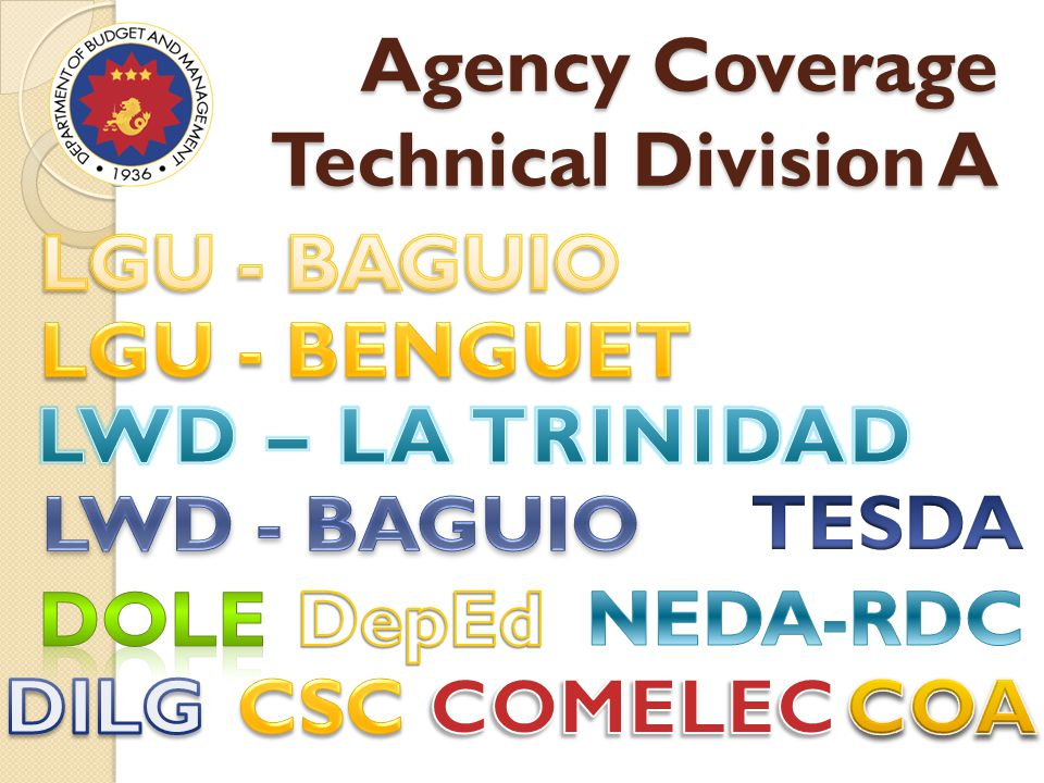 Agency Coverage Technical Division A
