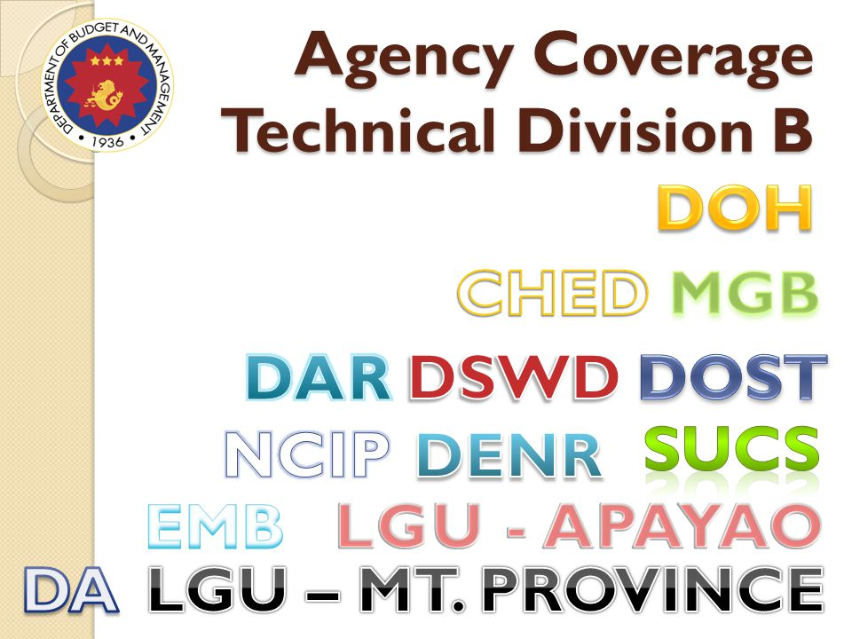 Agency Coverage Technical Division B