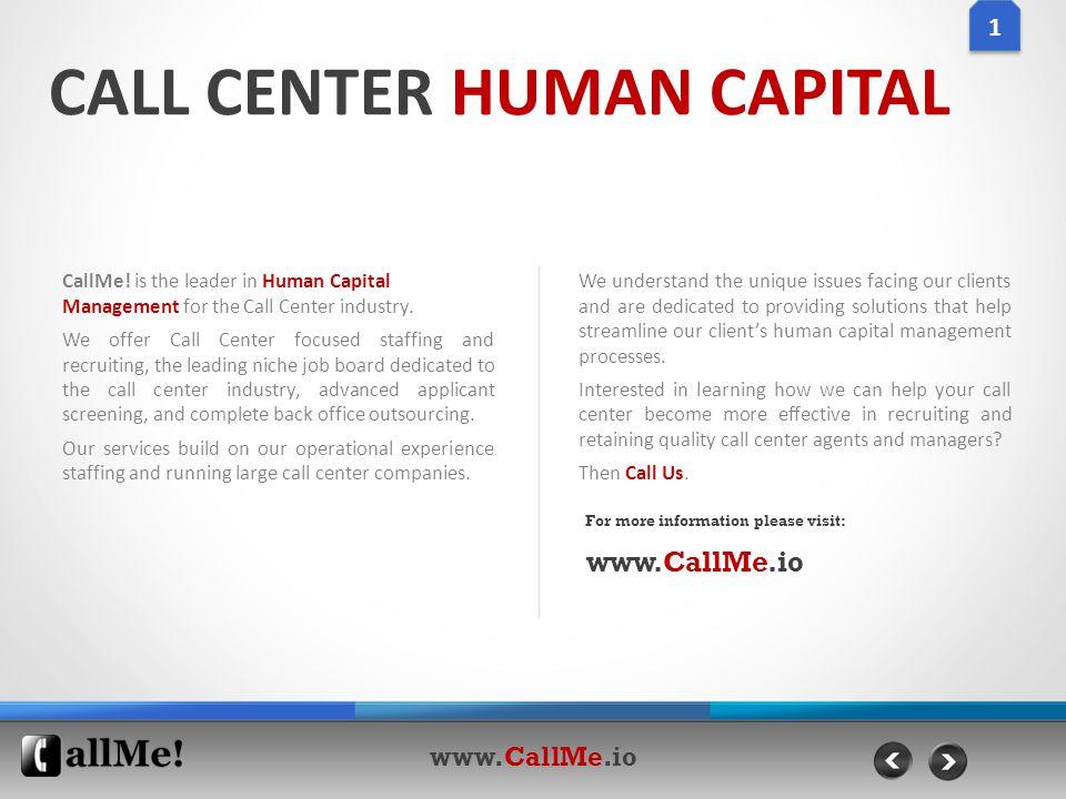 CALL CENTER HUMAN CAPITAL CallMe.