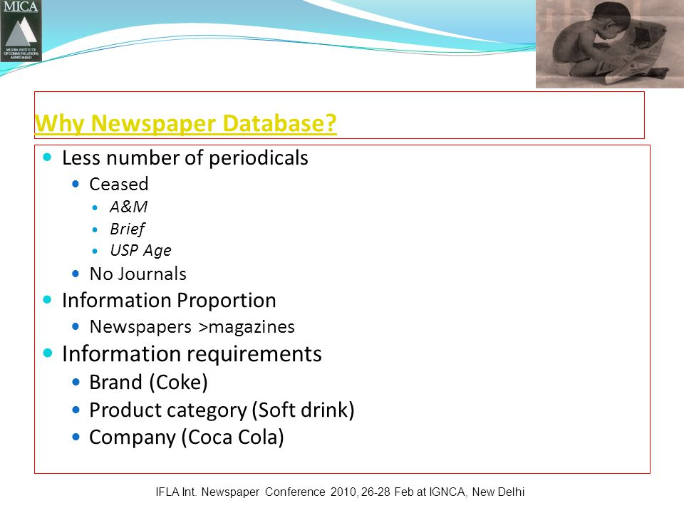 Why Newspaper Database.