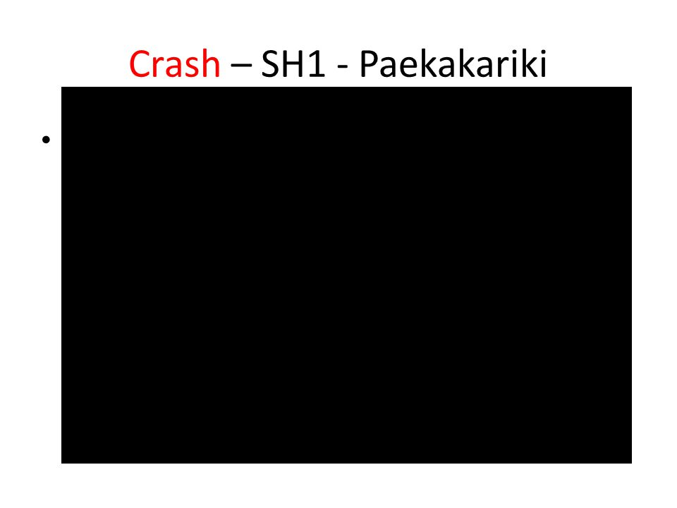Crash – SH1 - Paekakariki Cctv coverage of the crash