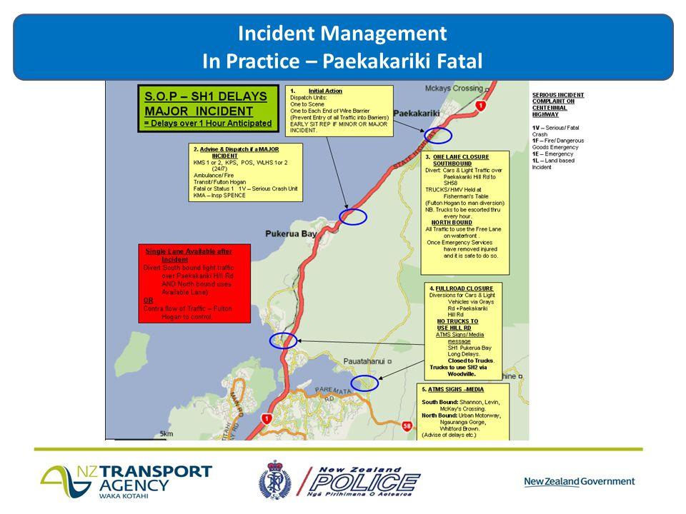 Incident Management In Practice – Paekakariki Fatal