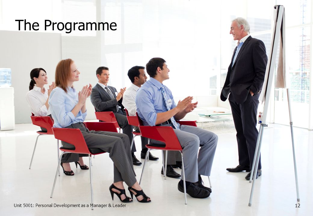 Unit 5001: Personal Development as a Manager & Leader 12 The Programme