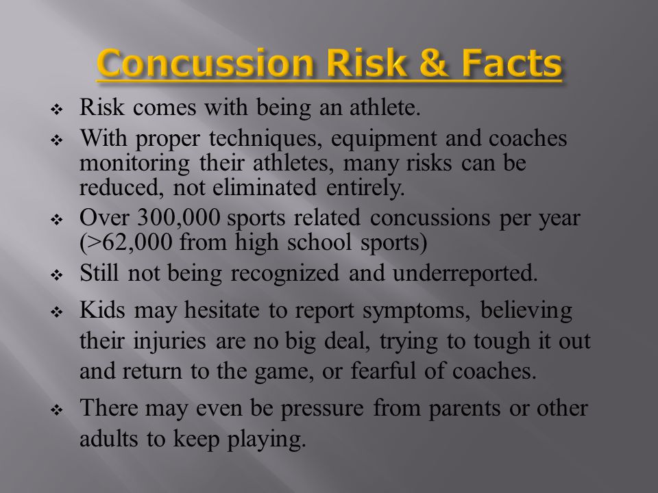 Continuing to play with a concussion can cause permanent brain damage--or even death.