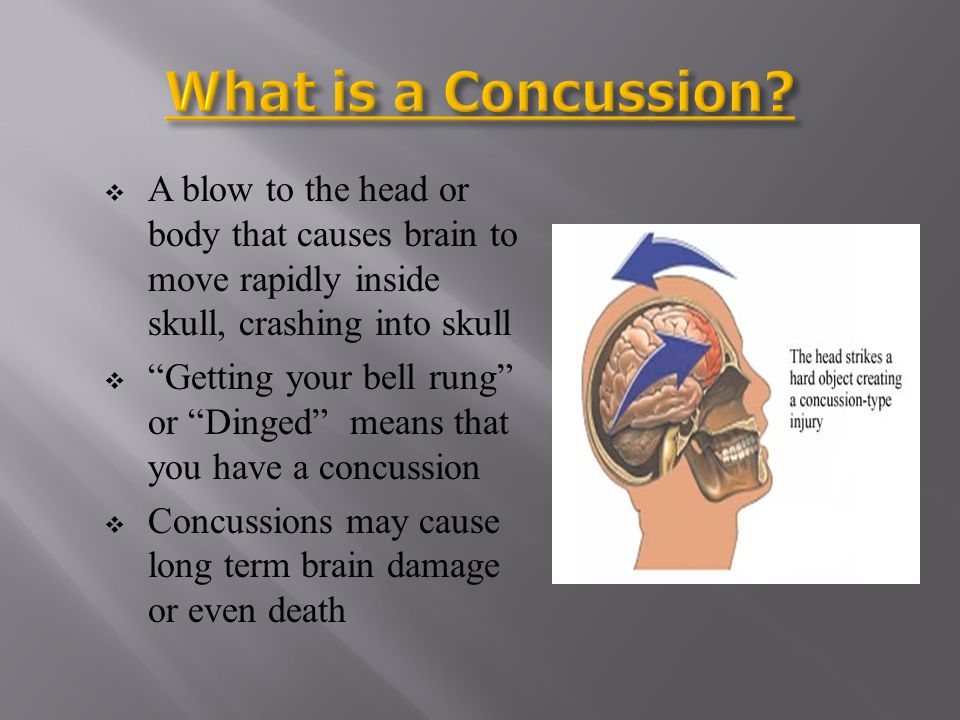Rare, but often fatal condition Brain swells rapidly if 2 nd concussion is sustained before 1 st symptoms have subsided If not killed, then severely disabled Unlike concussions, SIS is entirely preventable
