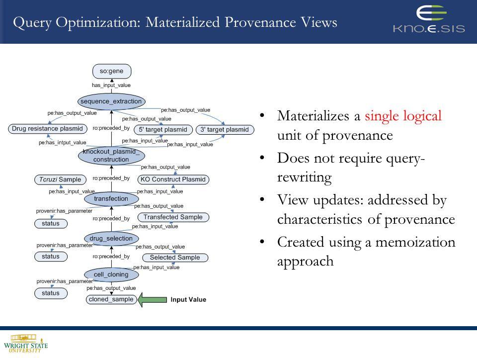 Provenance Query Engine Architecture TRANSITIVE CLOSURE QUERY OPTIMIZER