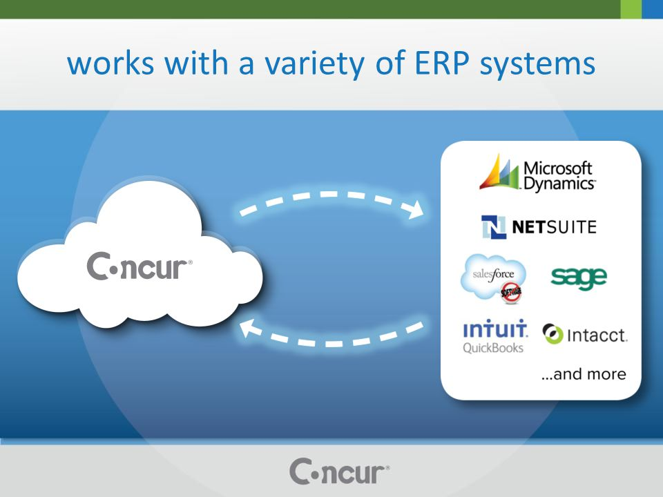 works with a variety of ERP systems