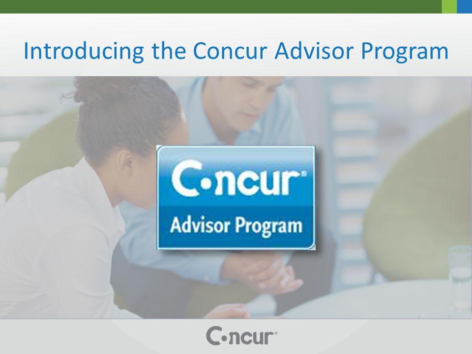 Introducing the Concur Advisor Program