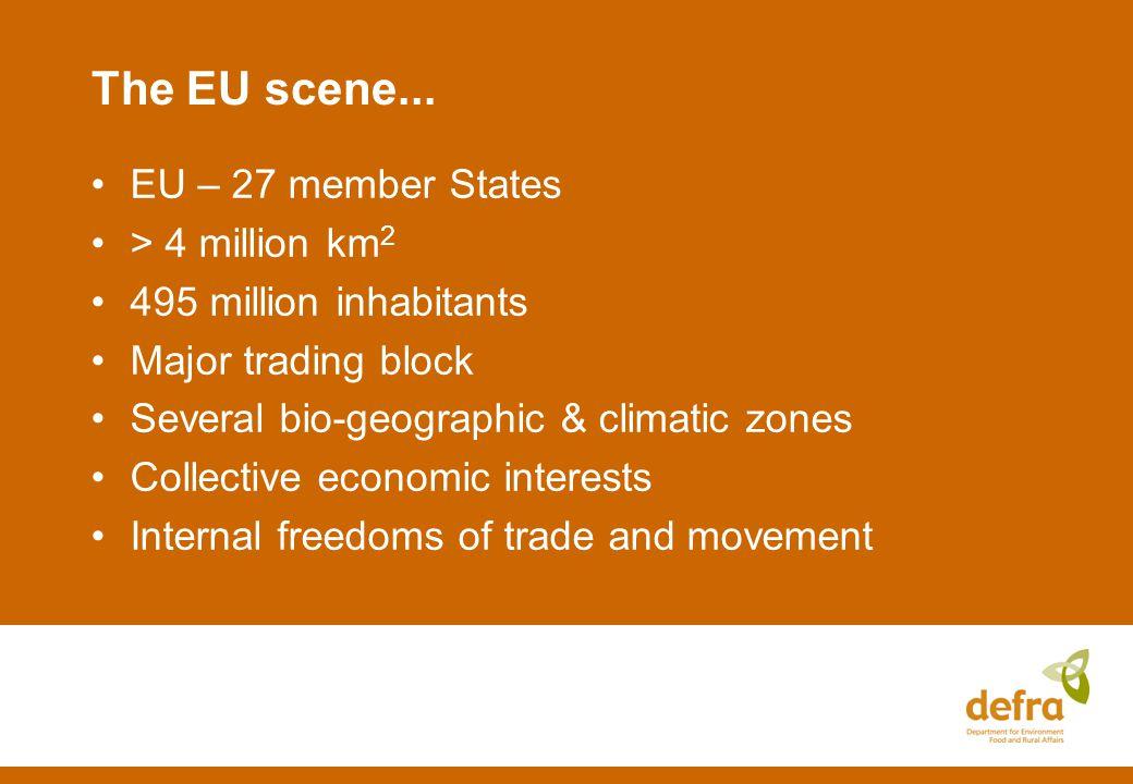 The EU scene...