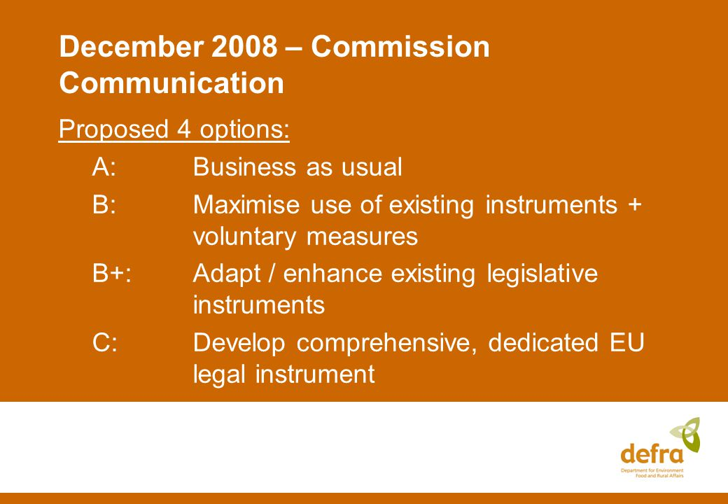 A legislative EU IAS Strategy? What are the implications?
